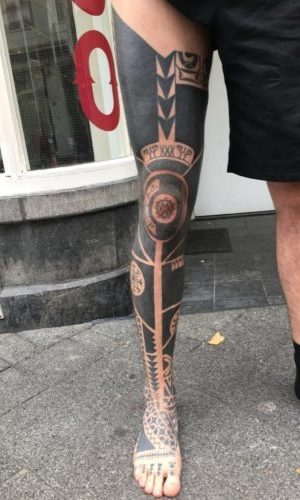 Tribal by Sim - Full leg
